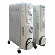 Радиатор масляный Термия Н0924В  2,3 кВт, 9 секций  с вентилятором