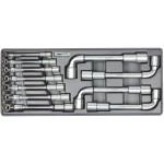 Набор ключей торцевых Г-об. 8-19мм 11ед ложемент