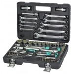 "Набор инструмента  Whirlpower 84ед. 1/2-1/4"" 10-32мм+ ключи и бити"